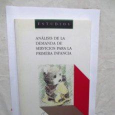 Libros de segunda mano: ANALISIS DE LA DEMANDA DE SERVICIOS PARA LA PRIMERA INFANCIA . Lote 147523222