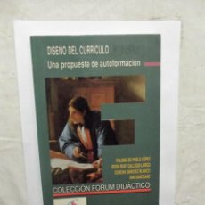 Libros de segunda mano: DISEÑO DEL CURRICULO EN EL AULA UNA PROPUESTA DE AUTOFORMACION. Lote 147627878