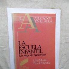 Libros de segunda mano: LA ESCUELA INFANTIL UN LUGAR DE ENCUENTRO DE LILIA MARTIN Y PILAR ERRAZURIZ . Lote 147720422