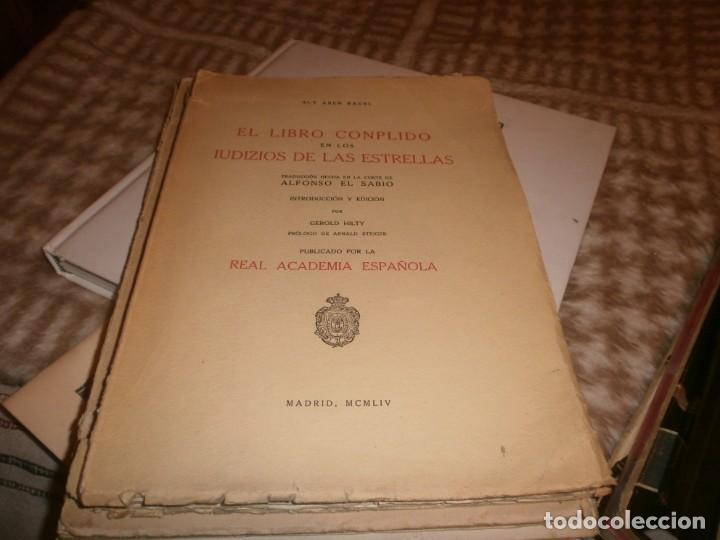 EL LIBRO CONPLIDO EN LOS UIDIZIOS DE LAS ESTRELLAS - ALY ABEN RAGEL - REAL ACADEMIA ESPAÑOLA 1954 (Libros de Segunda Mano - Ciencias, Manuales y Oficios - Pedagogía)