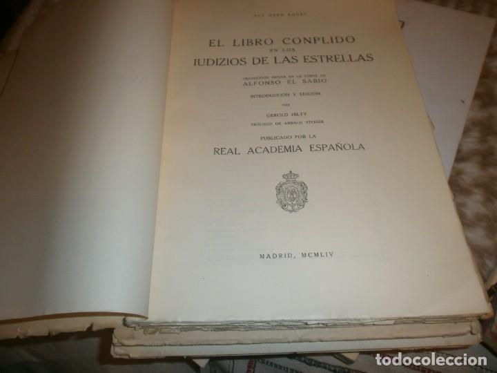 Libros de segunda mano: El libro Conplido en los Uidizios de las Estrellas - Aly Aben Ragel - Real Academia Española 1954 - Foto 2 - 147771170
