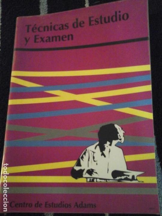 TÉCNICAS DE ESTUDIO Y EXAMEN (Libros de Segunda Mano - Ciencias, Manuales y Oficios - Pedagogía)
