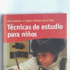 Libros de segunda mano: TÉCNICAS DE ESTUDIO PARA NIÑOS. Lote 148927766