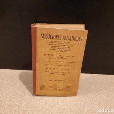 Libros de segunda mano: LIBRO ESCOLAR.....SOLUCIONES ANALITICAS...LIBRO DEL MAESTRO....J.DALMAU CARLES.... Lote 150988378