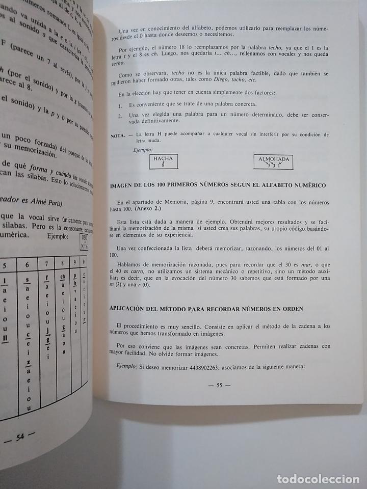 Libros de segunda mano: METODO DE ESTUDIO MEMORIA AUDIENCIA Y CONCENTRACION. CURSO 1. INSTITUTO ILVEM. TDK364 - Foto 3 - 151230846