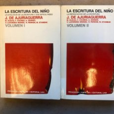 Libros de segunda mano: LA ESCRITURA DEL NIÑO (LA EVOLUCIÓN DE LA ESCRITURA Y SUS DIFICULTADES). 2 TOMOS. J. DE AJURIAGUERRA. Lote 151474657