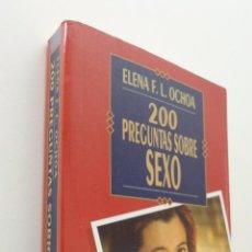 Libros de segunda mano: 200 PREGUNTAS SOBRE SEXO - OCHOA, ELENA F. L.. Lote 151838708
