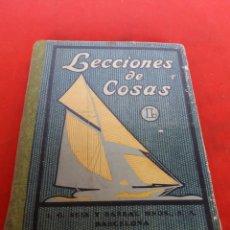 Livros em segunda mão: LECCIONES DE COSAS SEIX Y BARRAL HERMANOS BARCELONA. Lote 158581361