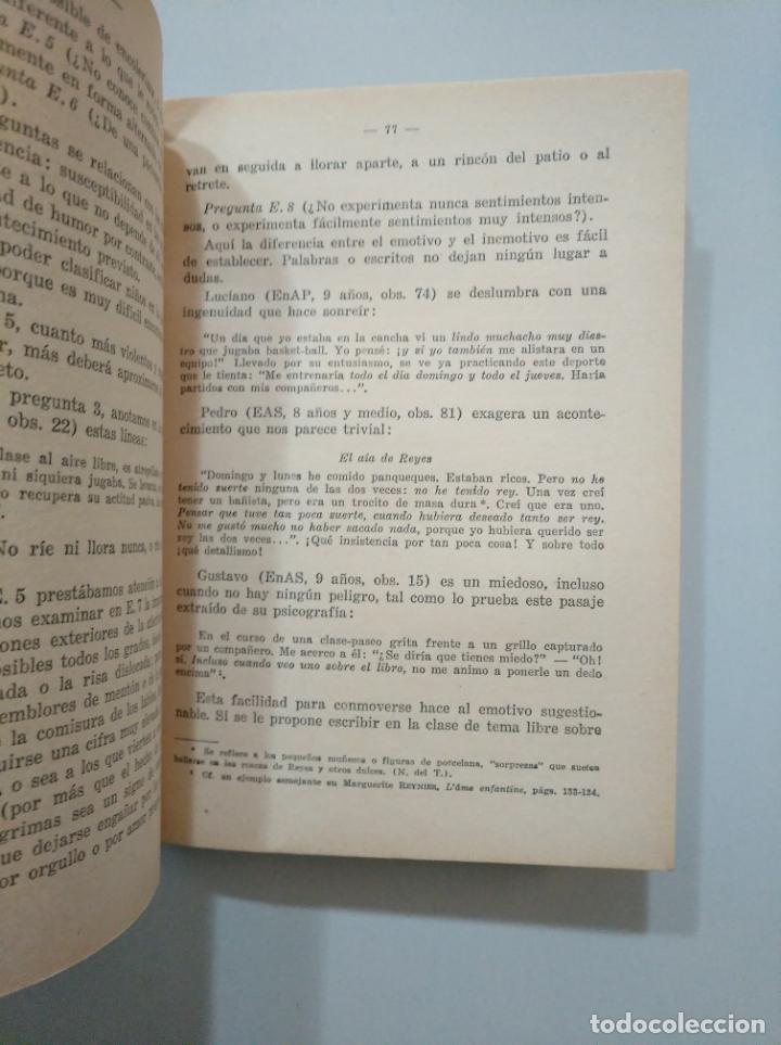 Libros de segunda mano: ANÁLISIS CARACTEROLÓGICO DE LOS ALUMNOS DE UN CURSO REALIZADO POR SU MAESTRO. GAILLAT, ROGER. TDK379 - Foto 2 - 158582390