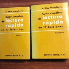 Libros de segunda mano: CURSO COMPLETO DE LECTURA RÁPIDA EN 12 LECCIONES, A. BLAY FONTCUBERTA. Lote 158958732