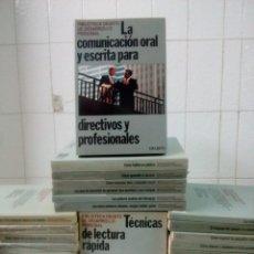 Libros de segunda mano: BIBLIOTECA DEUSTO DE DESARROLLO PROFESIONAL. 39 VOLÚMENES.. Lote 160347534