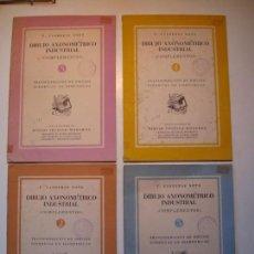 Libros de segunda mano: DIBUJO AXONOMÉTRICO INDUSTRIAL. COMPLEMENTOS Nº 2, 3, 4 Y 5 - T. CARRERAS SOTO. DIBUJO TÉCNICO. Lote 160390254
