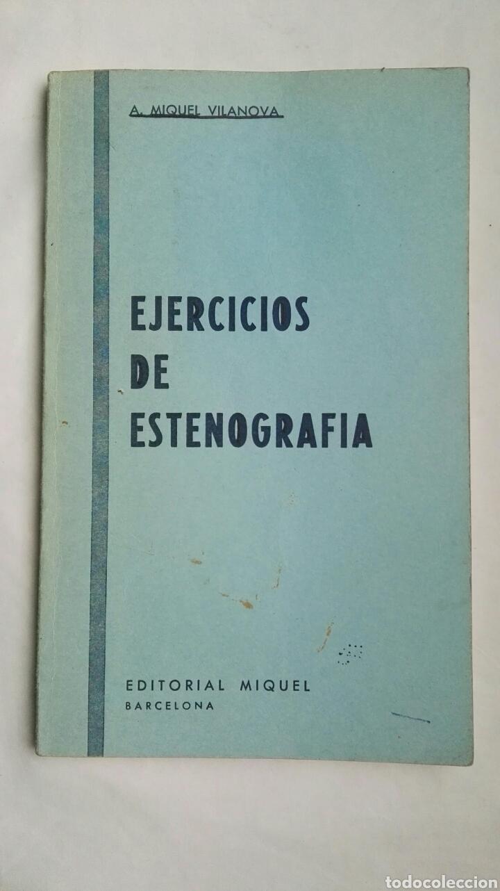 EJERCICIOS DE ESTENOGRAFIA (Libros de Segunda Mano - Ciencias, Manuales y Oficios - Pedagogía)