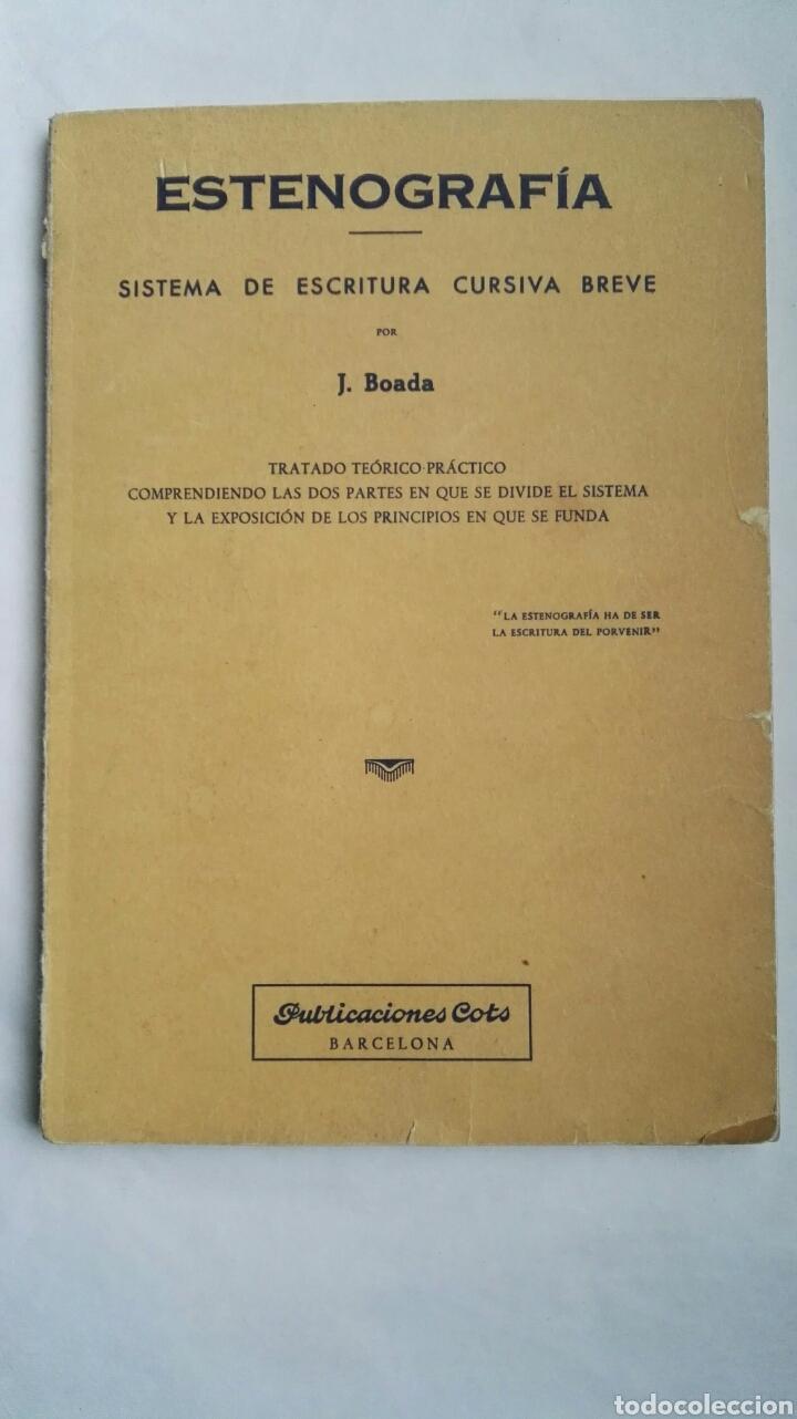 ESTENOGRAFÍA (Libros de Segunda Mano - Ciencias, Manuales y Oficios - Pedagogía)