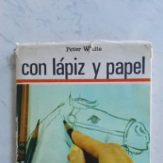 Libros de segunda mano: CON LÁPIZ Y PAPEL SANTILLANA. Lote 160873658