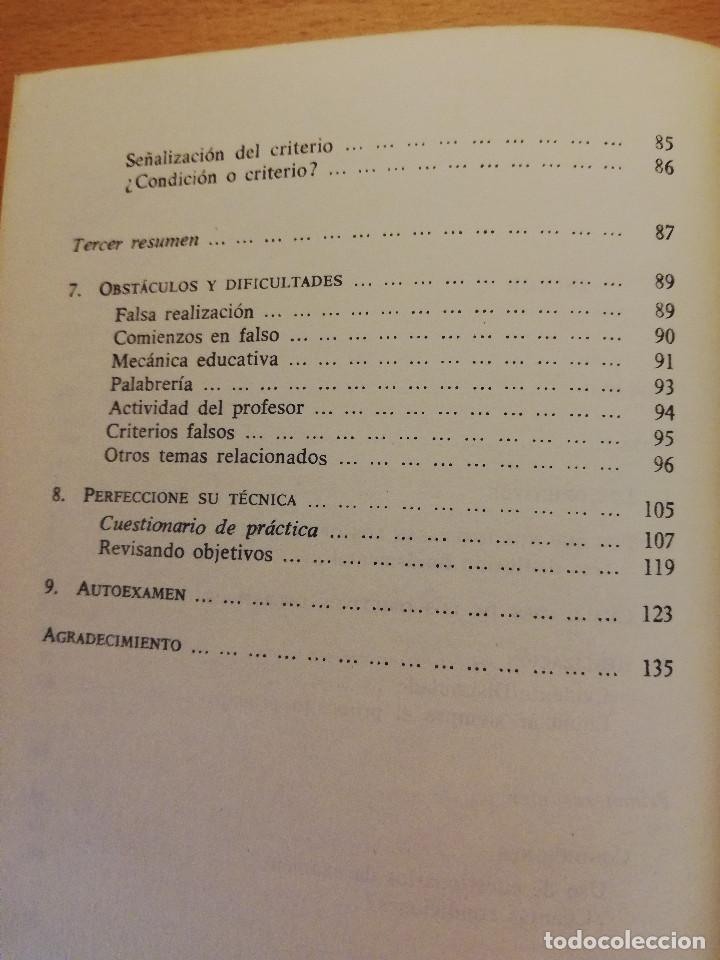 Libros de segunda mano: FORMULACIÓN OPERATIVA DE OBJETIVOS DIDÁCTICOS (ROBERT F. MAGER) MAROVA - Foto 4 - 161929894