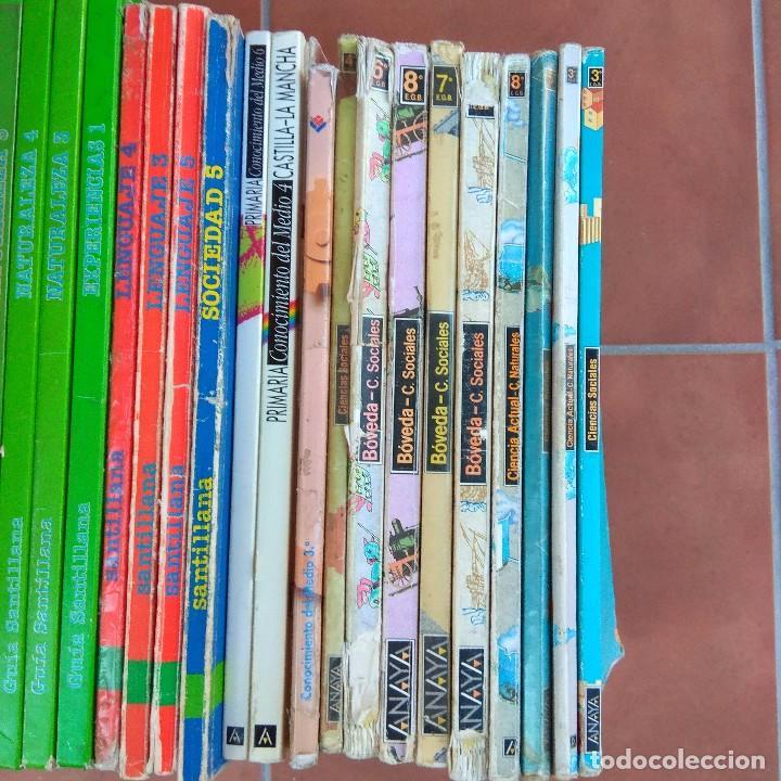 Libros de segunda mano: Lote 28 libros texto años 80 editorial Santillana y Anaya - Foto 3 - 165881262