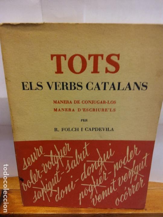 STQ.TOTS ELS VERBS CATALANS..BRUMART TU LIBRERIA. (Libros de Segunda Mano - Ciencias, Manuales y Oficios - Pedagogía)