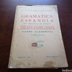Libros de segunda mano: GRAMÁTICA ESPAÑOLA DE LUÍS MIRANDA PODADERA. Lote 168958016