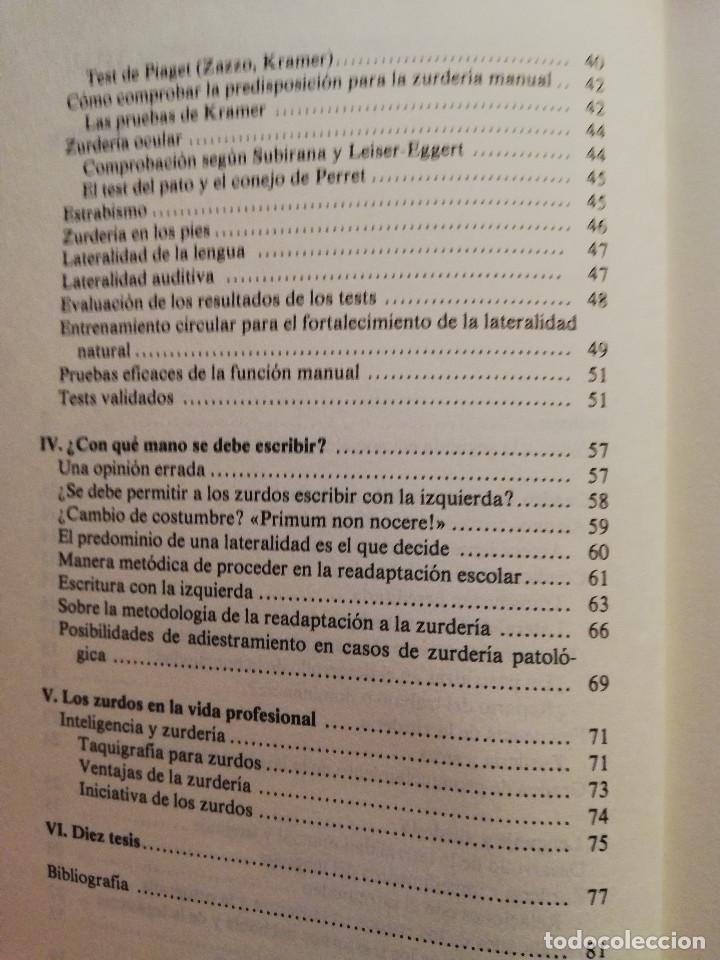 Libros de segunda mano: LOS NIÑOS ZURDOS (ALFRED ZUCKRIGL) BIBLIOTECA DE PEDAGOGÍA Nº 23 - HERDER - - Foto 3 - 169423392