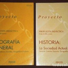 Libros de segunda mano: PROYECTO (PROPUESTA DIDÁCTICA GEOGRAFÍA E HISTORIA ESO) M BURGOS ALONSO Y OTROS; ALGAIDA MADRID 1994. Lote 171220477