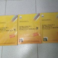 Libros de segunda mano: TEORIA Y PRACTICA DEL PROYECTO PEDAGOGICO DIDACTICO. 1985 LIBROS 1-2 Y 3. Lote 171297143