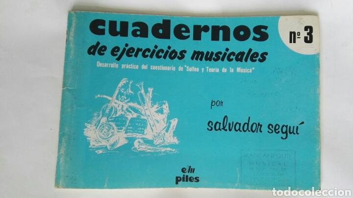 CUADERNOS DE EJERCICIOS MUSICALES N° 3 SEGUÍ (Libros de Segunda Mano - Ciencias, Manuales y Oficios - Pedagogía)