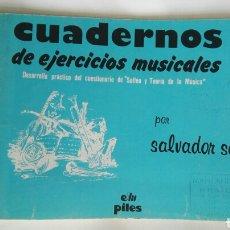 Libros de segunda mano: CUADERNOS DE EJERCICIOS MUSICALES N° 3 SEGUÍ. Lote 171463785