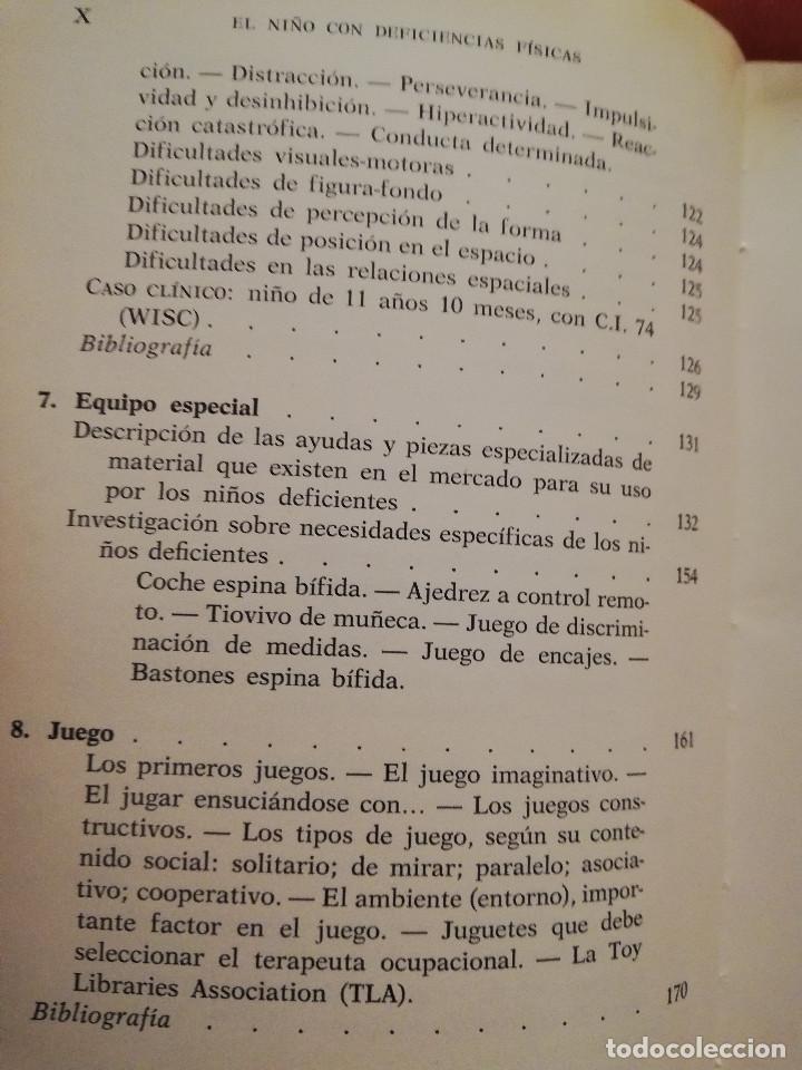 Libros de segunda mano: EL NIÑO CON DEFICIENCIAS FÍSICAS (LINDA ROUTLEDGE) - Foto 6 - 171978535