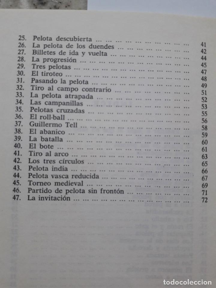 Libros de segunda mano: JUEGOS CON PELOTA. FERMIN CEBOLLA LOPEZ. ED. VILAMALA 1981 - Foto 5 - 172003049