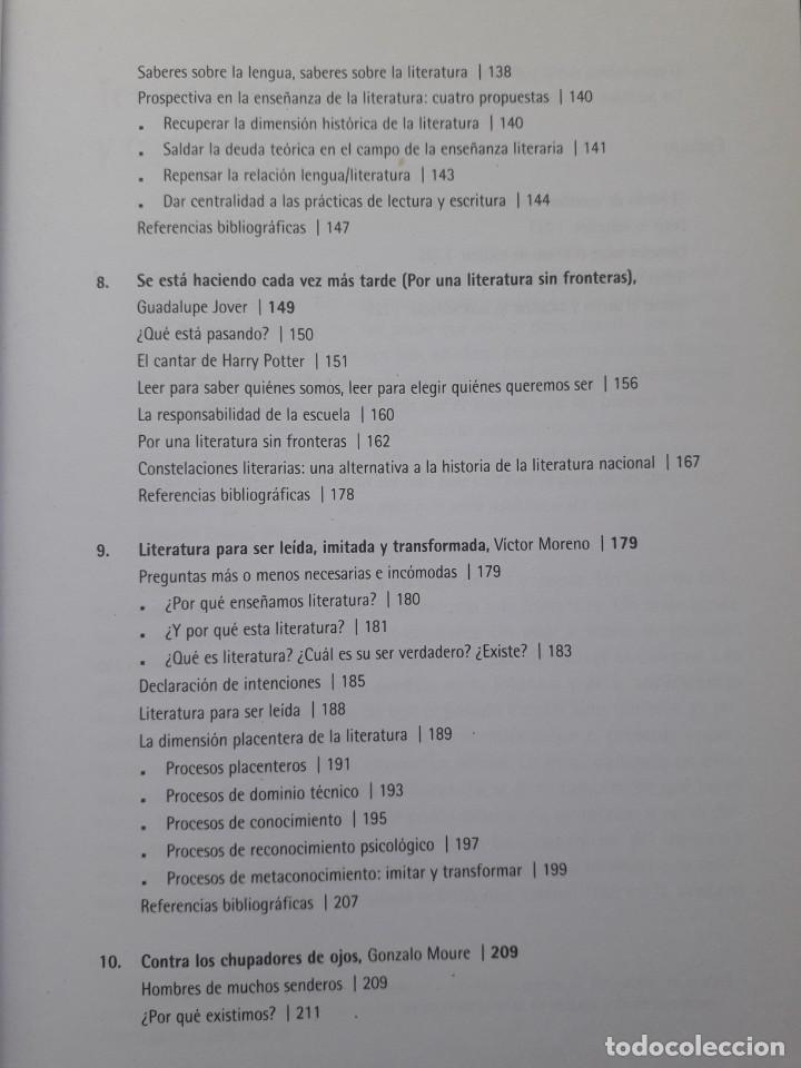Libros de segunda mano: TEXTOS LITERARIOS Y CONTEXTOS ESCOLARES. LA ESCUELA EN LA LITERATURA. BIBLIOTECA DE TEXTOS GRAO,2008 - Foto 5 - 172016050