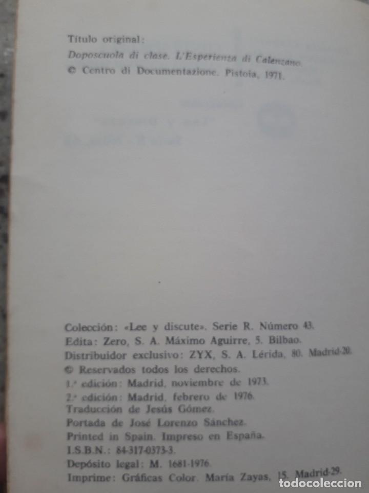 Libros de segunda mano: CONTRAESCUELA. ALUNMOS DE BARBIANA. EDITORIAL ZERO. BILBAO, 1976 - Foto 2 - 172017137