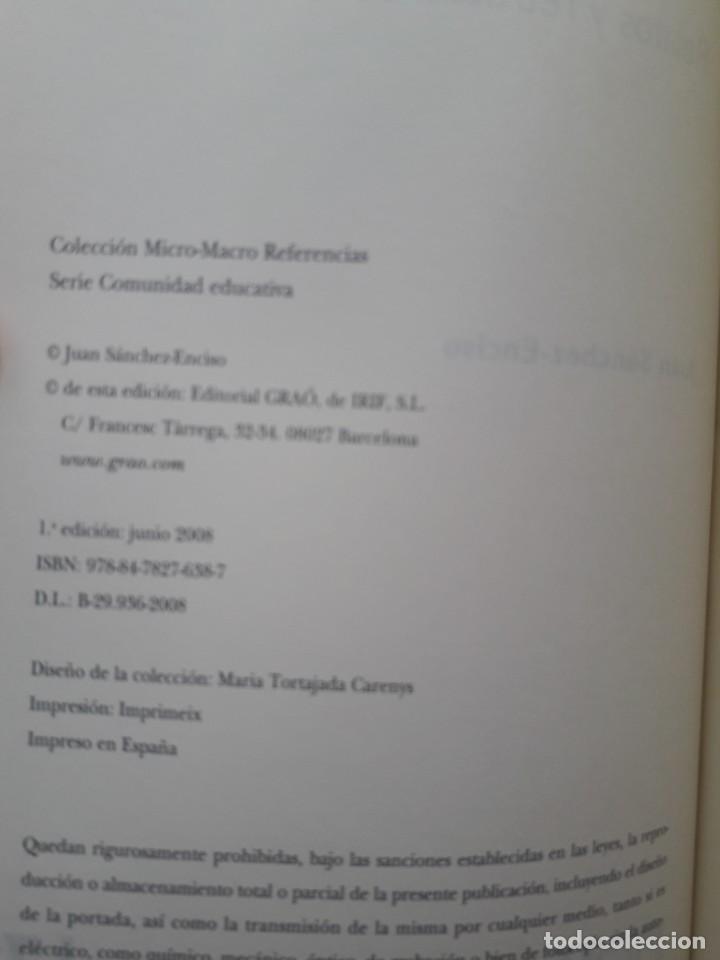 Libros de segunda mano: LA SONRISA DE PLATON, RELATOS Y RETRATOS DE LA VIDA ESCOLAR. JUAN SANCHEZ-ENCISO. ED. GRAO, 2008 - Foto 5 - 172069533