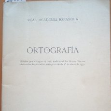Libros de segunda mano: ORTOGRAFIA. - REAL ACADEMIA ESPAÑOLA. Lote 173725892