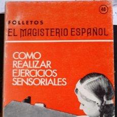 Libros de segunda mano: COMO REALIZAR EJERCICIOS SENSORIALES. - ROCH, Y LE.. Lote 173751754
