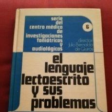 Libros de segunda mano: EL LENGUAJE LECTOESCRITO Y SUS PROBLEMAS (DIRECTOR: JULIO BERNALDO DE QUIRÓS) PANAMERICANA. Lote 174078000