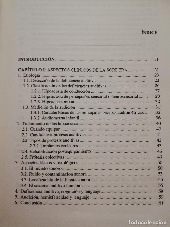 Libros de segunda mano: DEFICIENCIA AUDITIVA. ASPECTOS PSICOEVOLUTIVOS Y EDUCATIVOS (VV. AA.) EDICIONES ALJIBE - Foto 3 - 174078937