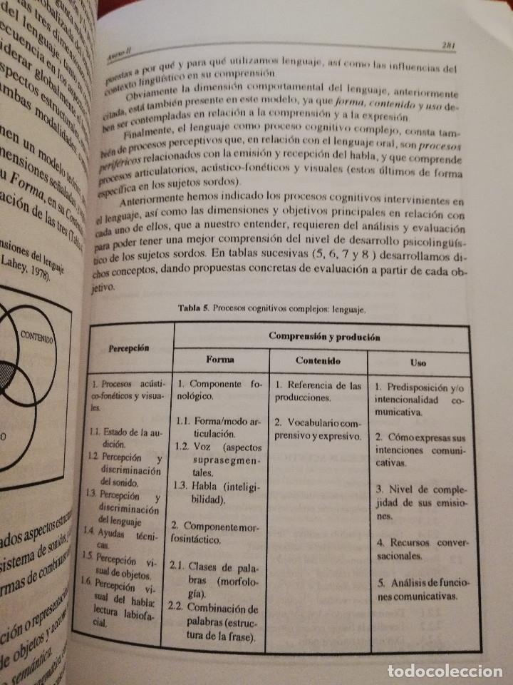 Libros de segunda mano: DEFICIENCIA AUDITIVA. ASPECTOS PSICOEVOLUTIVOS Y EDUCATIVOS (VV. AA.) EDICIONES ALJIBE - Foto 7 - 174078937
