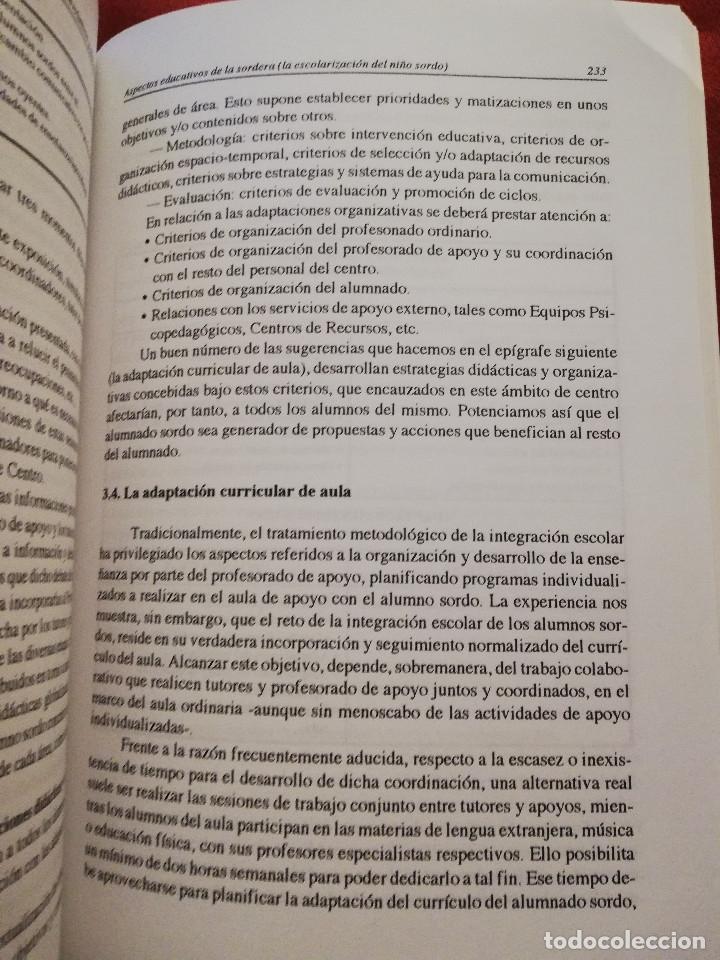 Libros de segunda mano: DEFICIENCIA AUDITIVA. ASPECTOS PSICOEVOLUTIVOS Y EDUCATIVOS (VV. AA.) EDICIONES ALJIBE - Foto 9 - 174078937