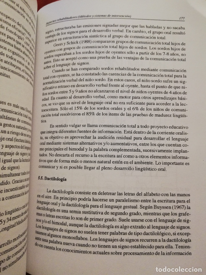 Libros de segunda mano: DEFICIENCIA AUDITIVA. ASPECTOS PSICOEVOLUTIVOS Y EDUCATIVOS (VV. AA.) EDICIONES ALJIBE - Foto 10 - 174078937