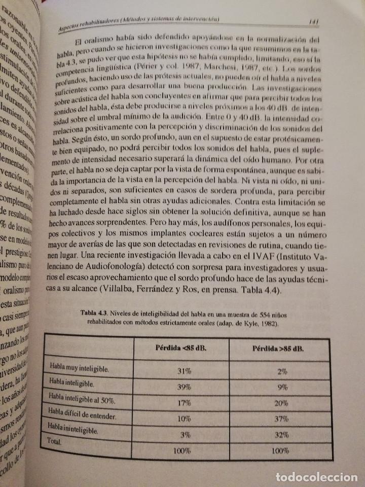 Libros de segunda mano: DEFICIENCIA AUDITIVA. ASPECTOS PSICOEVOLUTIVOS Y EDUCATIVOS (VV. AA.) EDICIONES ALJIBE - Foto 11 - 174078937