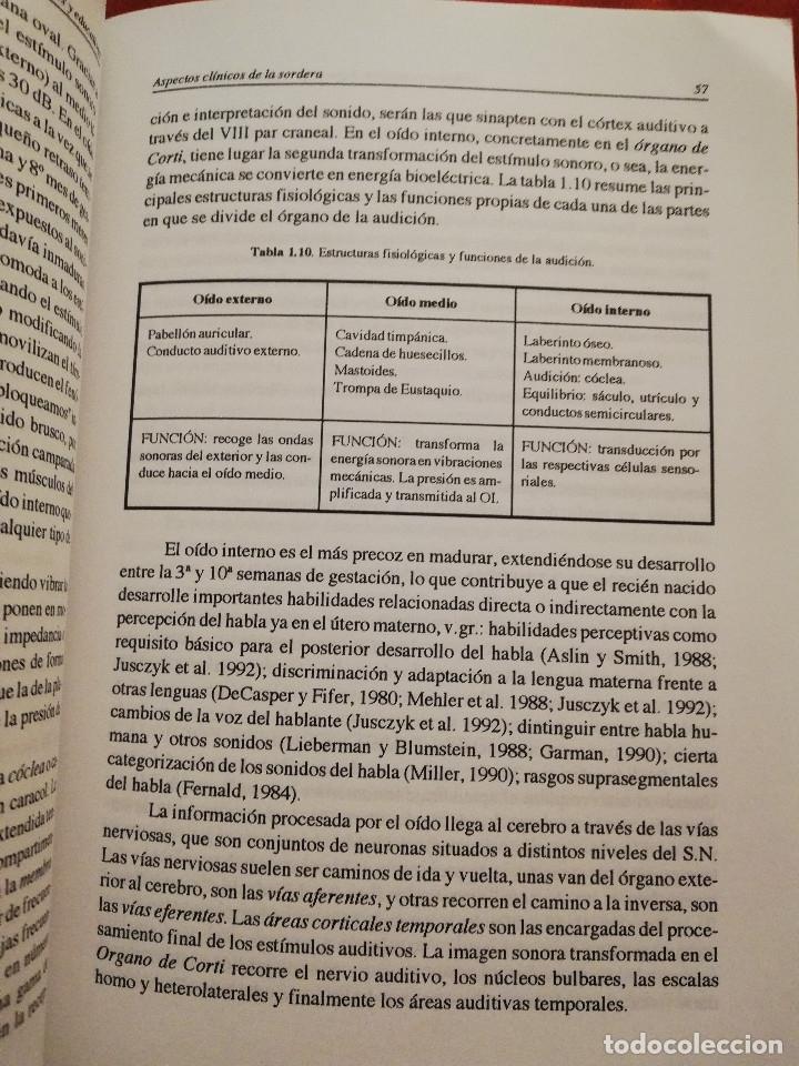 Libros de segunda mano: DEFICIENCIA AUDITIVA. ASPECTOS PSICOEVOLUTIVOS Y EDUCATIVOS (VV. AA.) EDICIONES ALJIBE - Foto 13 - 174078937