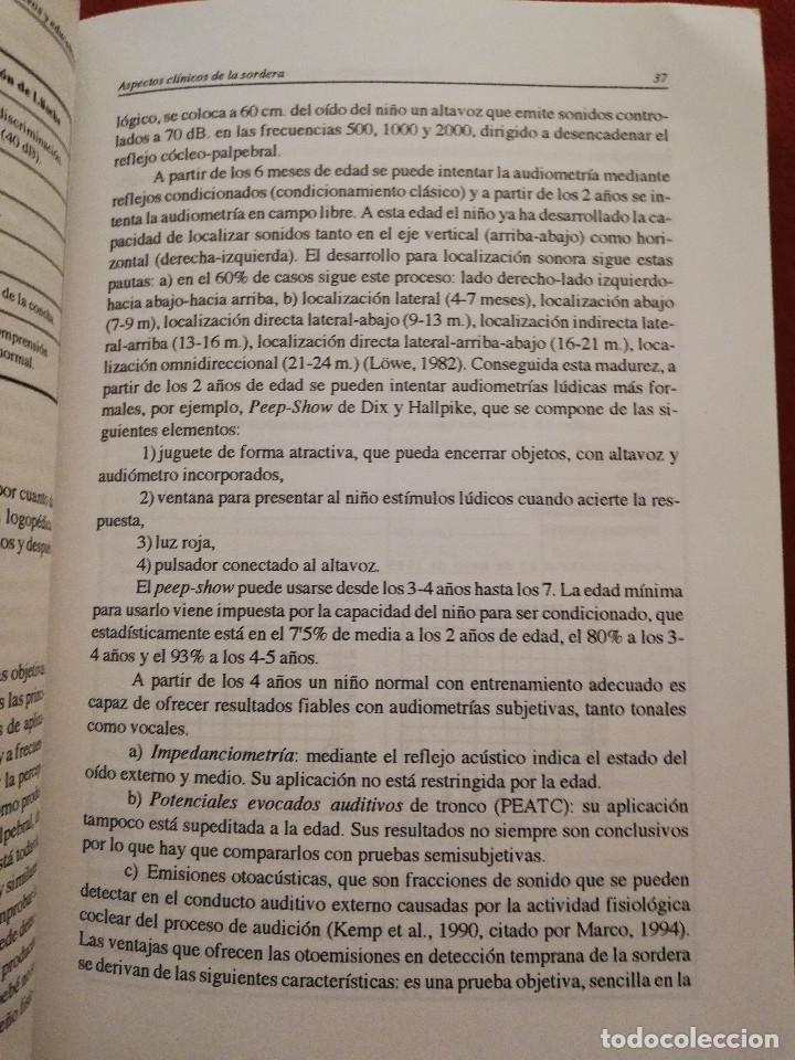 Libros de segunda mano: DEFICIENCIA AUDITIVA. ASPECTOS PSICOEVOLUTIVOS Y EDUCATIVOS (VV. AA.) EDICIONES ALJIBE - Foto 14 - 174078937