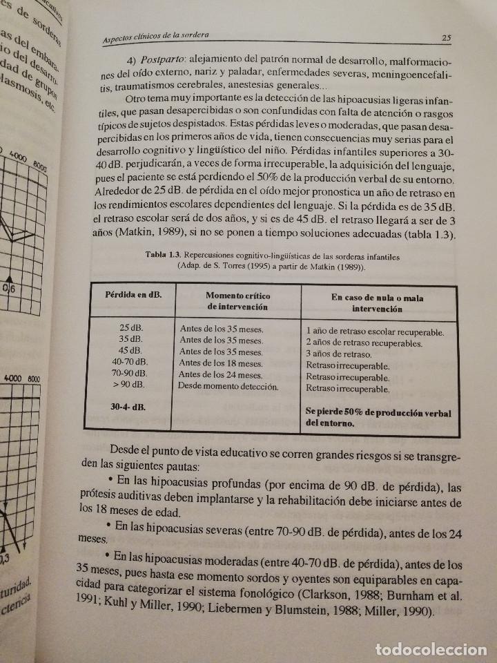 Libros de segunda mano: DEFICIENCIA AUDITIVA. ASPECTOS PSICOEVOLUTIVOS Y EDUCATIVOS (VV. AA.) EDICIONES ALJIBE - Foto 15 - 174078937