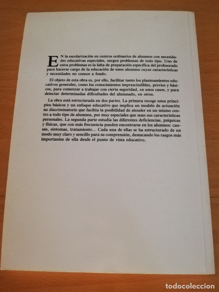 Libros de segunda mano: EDUCACIÓN ESPECIAL: HACIA LA INTEGRACIÓN (Mª ANTONIA CASANOVA) EDITORIAL ESCUELA ESPAÑOLA - Foto 6 - 174237215