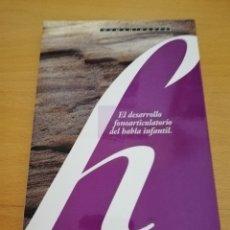 Libros de segunda mano: EL DESARROLLO FONOARTICULATORIO DEL HABLA INFANTIL (FRANCISCO MIRAS MARTÍNEZ). Lote 174238323