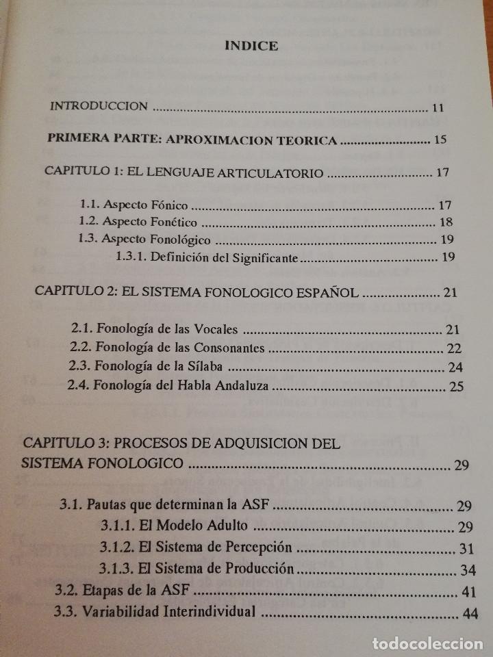 Libros de segunda mano: EL DESARROLLO FONOARTICULATORIO DEL HABLA INFANTIL (FRANCISCO MIRAS MARTÍNEZ) - Foto 3 - 174238323