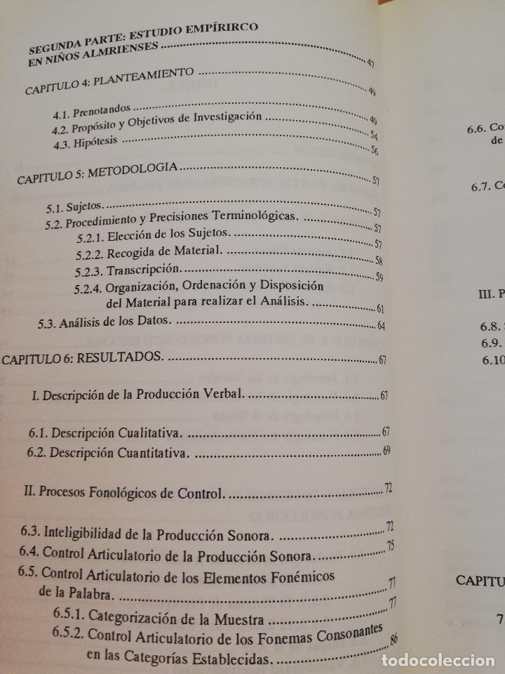 Libros de segunda mano: EL DESARROLLO FONOARTICULATORIO DEL HABLA INFANTIL (FRANCISCO MIRAS MARTÍNEZ) - Foto 4 - 174238323