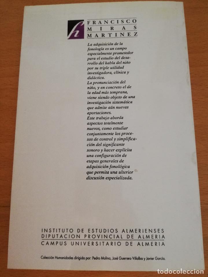 Libros de segunda mano: EL DESARROLLO FONOARTICULATORIO DEL HABLA INFANTIL (FRANCISCO MIRAS MARTÍNEZ) - Foto 7 - 174238323