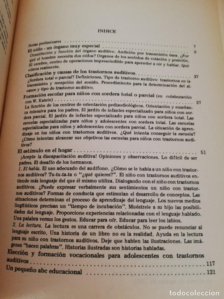 Libros de segunda mano: NIÑOS CON TRASTORNOS AUDITIVOS. MANUAL PARA PADRES (BRUNO FISCHER) EDITORIAL GALERNA - Foto 3 - 174239145